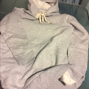 New Long Gray Sweatshirt Hoodie